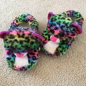 Girls TY Cat Slippers